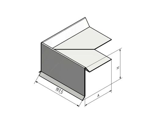 ortgangblech 90 au enecke aluminium pultdach flachdach 3. Black Bedroom Furniture Sets. Home Design Ideas