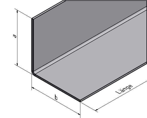 aluminiumwinkel aluwinkel winkelprofil gekantet. Black Bedroom Furniture Sets. Home Design Ideas