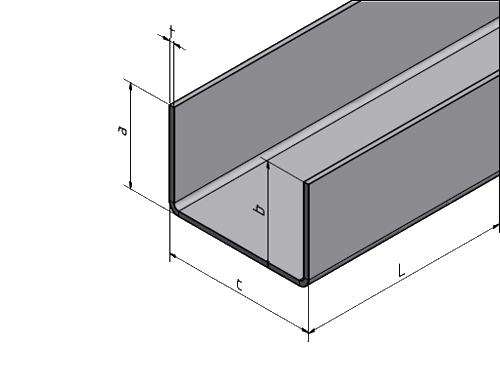 einfassprofil u profil t 1 0 mm f r balkon br stung. Black Bedroom Furniture Sets. Home Design Ideas