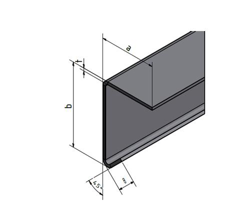 edelstahl winkel mit tropfkante innen winkelprofil kantblech rostfrei. Black Bedroom Furniture Sets. Home Design Ideas