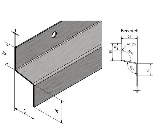 tropfblech traufblech edelstahl 10 20 10 1500mm eins lochung durchmesser 6 mm ebay. Black Bedroom Furniture Sets. Home Design Ideas